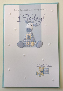 Age 1 Birthday Boy, Birthday Greetings Card