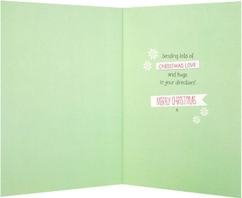 Forever Friends Nana Christmas Card 'Love and Hugs'