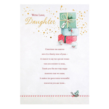 Daughter Christmas Card 'Lovely Daughter'