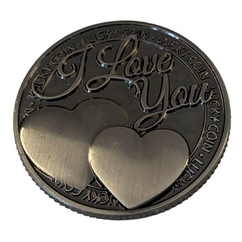 I Love You Cherished Lucky Coin Engraved Message Keepsake Gift {DC}