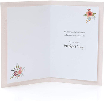 Mother's Day Card for Daughter 3D Effect