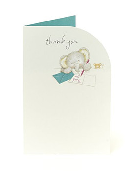 6 x Cute Elliot & Buttons Thank You Cards