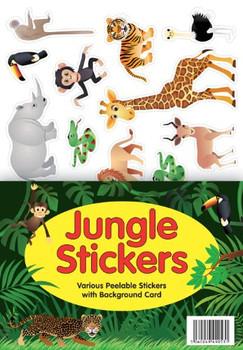 Jungle Animal A4 Sticker Sheet