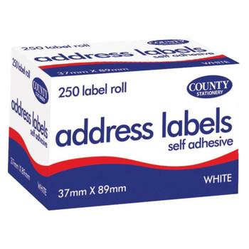 Self Adhesive Address Labels 250 Roll