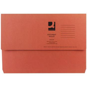Pack of 50 Foolscap Orange Document Wallets