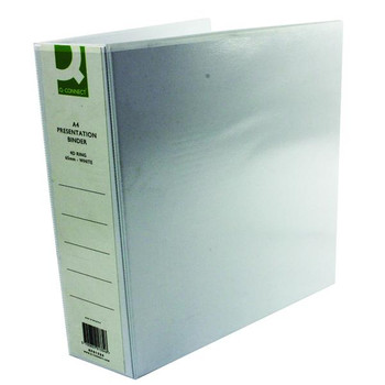 Pack of 6 A4 White 65mm 4D Presentation Ring Binders