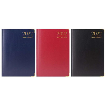 2022 A5 Day A Page Padded Diary with Metal Corners