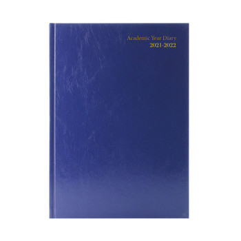 2021-2022 A5 Blue Week to View Academic Diary