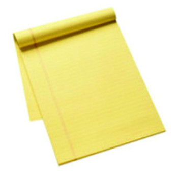 Pack of 10 A4 Yellow Ruled Stitch Bound Executive Pad 50 Pages