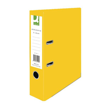 Pack of 10 A4 Yellow Paperbacked Lever Arch File