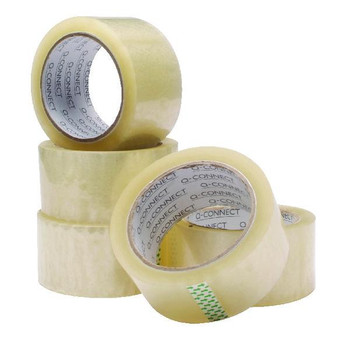 Pack of 6 Polypropylene Packaging Tape 50mmx66m Clear