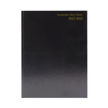 2021-2022 A5 Black Day Per Page Academic Diary