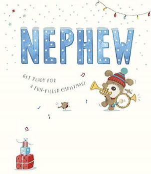 Lots of Woof Cute Boofle Nephew Christmas Card
