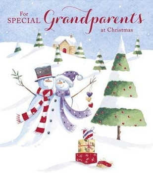 Couple Snowmen Design Special Grandparents Christmas Card