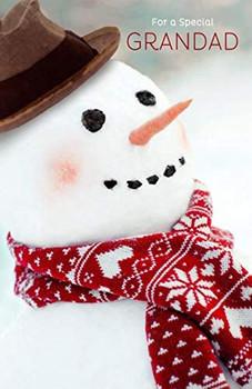 Special Grandad Classic Frosty Snowman Design Christmas Card