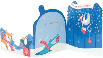Go Wild Cute Elephant Design Kids Christmas Card