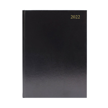 2022 A4 Day Per Page Black Appointments Diary