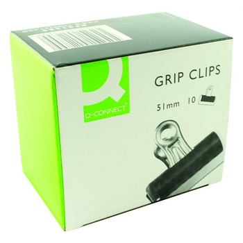 Pack of 10 51mm Black Grip Clips