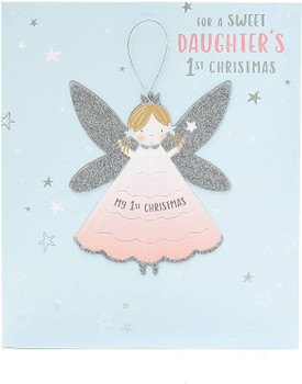 Cute Fairy Design Daughter's First Christmas Card