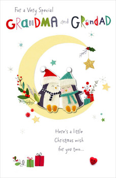 Couple Snowmen Design Grandma and Grandad Christmas Card