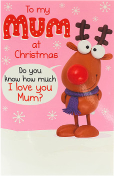 Mum I Love You This Much Pop Up Funny Christmas Card
