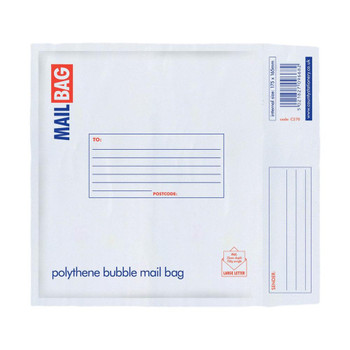 Pack of 10 CD Size Polythene Bubble Mail Bags