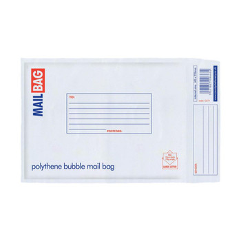 Pack of 10 Small Polythene Bubble Mail Bags