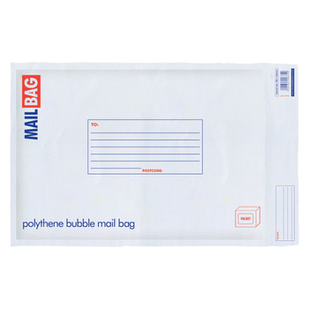Pack of 10 Large Polythene Bubble Mail Bags
