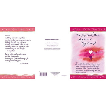 For My Soul Mate My Lover My Friend Card