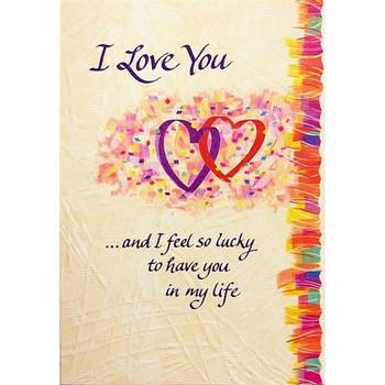 I Love You And I Feel So Lucky Blue Mountain Range Card
