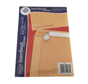 Pack of 10 C5 Board Back Envelopes