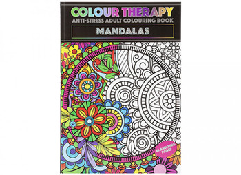 A4 48 Pages Mandalas Colour Therapy Book
