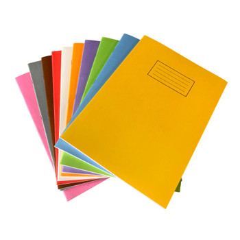 Pack of 50 Janrax A4 Assorted 80 Pages Feint and Ruled Exercise Books