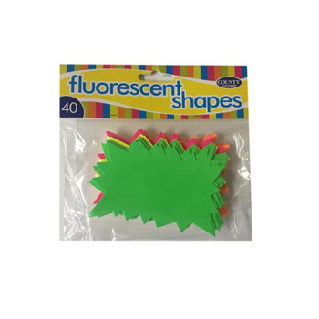 40 Fluorescent Flashes Shapes 66x105mm