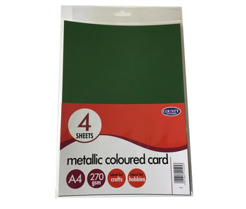 4 A4 Metallic Card Pack 270gsm