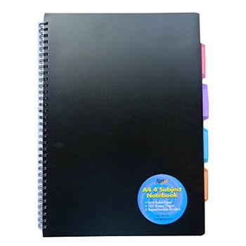 A4 4 Part Subject Notebook