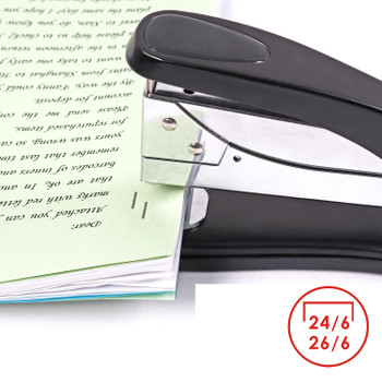 Large Metal Desk Stapler with Rotating Pin Board