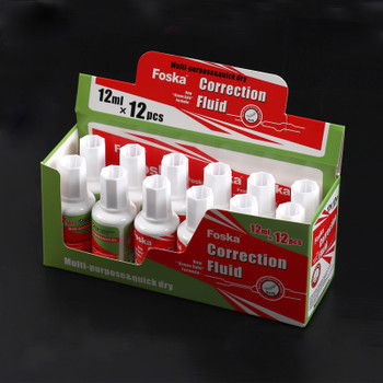 Pack of 12 Correction Fluid Bottles