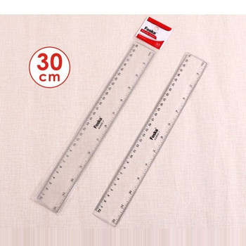 30cm Clear Ruler by First Stat