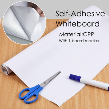 Self Adhesive Whiteboard Roll with White board marker- 45cm x 2m