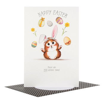 "Hallmark Cute Easter Open New Card ""Egg-Cellent Time"" - Small"