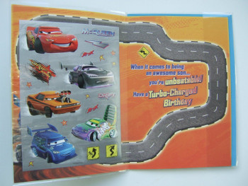 Cars birthday card for a Son by Hallmark, 10915845