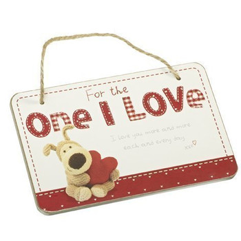 Boofle Wooden Hanging Plaque For The One I Love