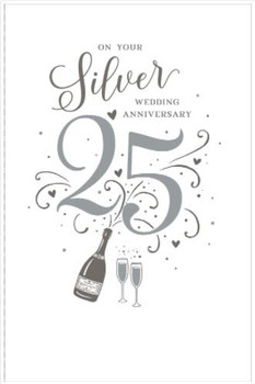 25th Silver Wedding Anniversary 25 Years Together new greetings card