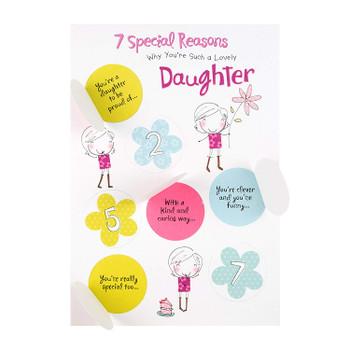 7 Special Reasons Daughter Hidden Message Birthday Card Hallmark