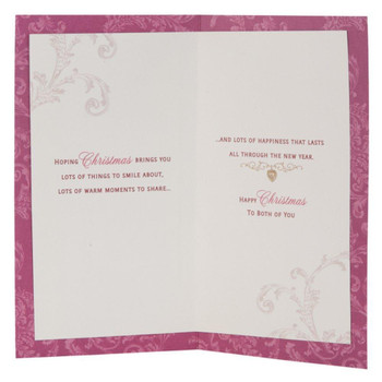 Hallmark Medium Slim Christmas Wish for Daughter and Partner Contemporary Lettering Card Gold Foil