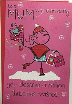 A million Christmas Wishes Mum Benny Christmas Greetings Card