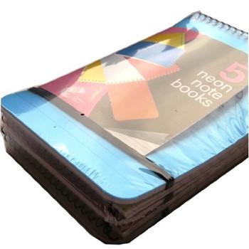 5 Medium Neon Notebooks