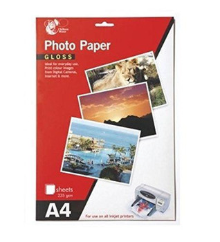 Chiltern Wove A4 Gloss Photo Paper 8 Sheets 235 gsm For All Inkjet Printer