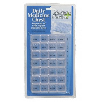 7-Day 4-Compartment Pill Organiser Box
